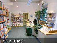 Empfangsbereich in der Gemeindebücherei