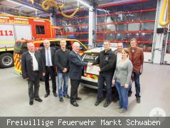 Übergabe des neuen Fahrzeugs an die First Responder Markt Schwaben