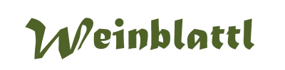 Weinblattl-Schriftzug