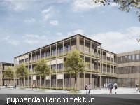 Visualisierung des Schulkomplexes von Südosten