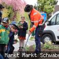 Anpflanzung der neuen Blühfläche mit dem Schulkindergarten des Schwabener Storchennest im Mai 2021