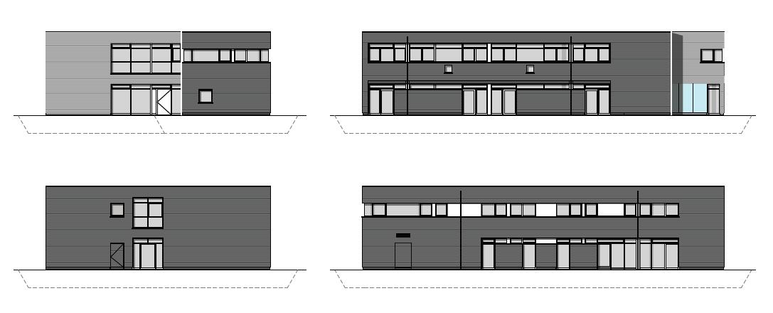 Ansicht des Neubau Kinderhaus 3+1