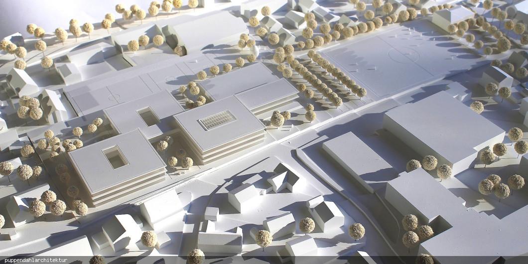 Wettbewerbsmodell kommunales Schulzentrum