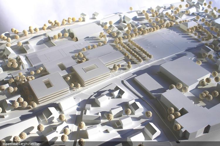 Wettbewerbsmodell kommunales Schulzentrum puppendahlarchitektur