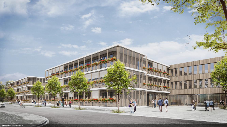 Visualisierung_des_Schulkomplexes_von_Sueden_puppendahlarchitektur
