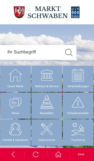 MarktSchwaben App_Screenshot_Home
