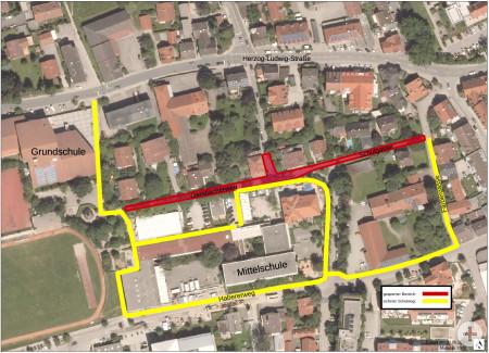 Lageplan-Baumassnahme-GerstlacherWeg-Schulgasse_Gehwegführung ab 07.09.2020