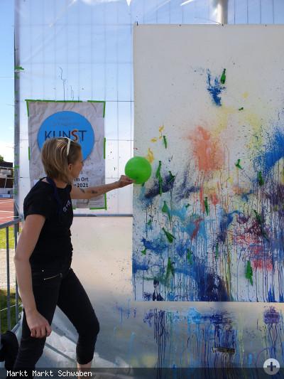 Kunstpfad in Action mit Magdalena Wiesauer