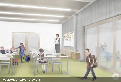 Ansicht eines Klassenzimmers in der Grundschule