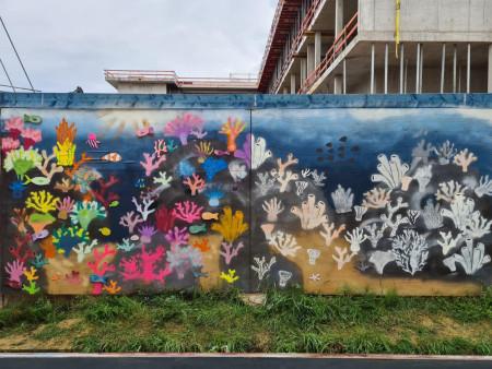Kunst am Bauzaun von der Mittelschule_2
