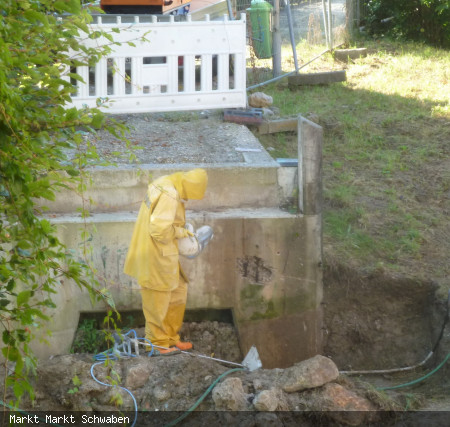 Arbeiten an der Postangerbrücke mittels Hochdruckwasserstrahltechnik