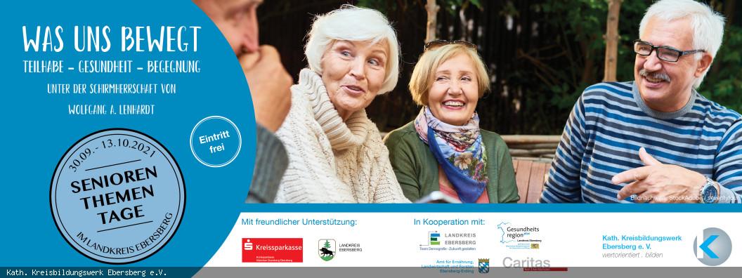 Banner zu Seniorenthementagen 2021